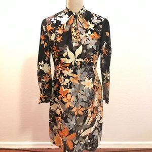 Adele Simpson Vintage Floral Front Bow Dress